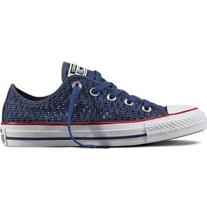 CONVERSE All-Star Blue Crochet Low Top Sneakers